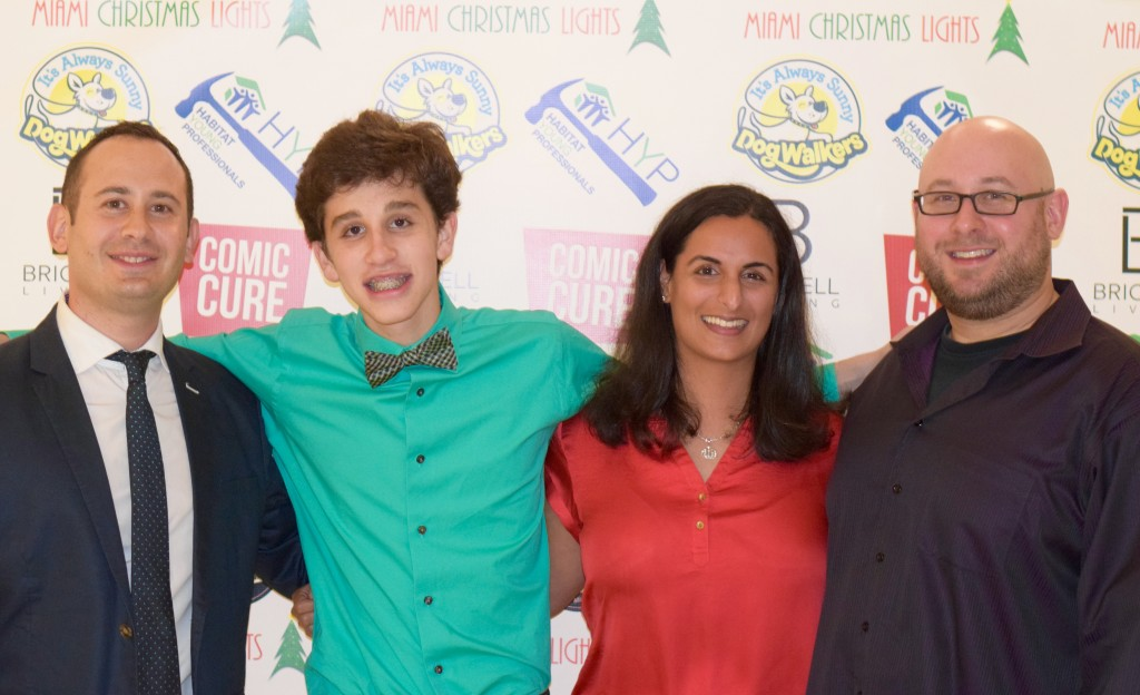 Comic Cure's Ben & Richy Leis with the 2015 Winners of the Brickell Comedy Festival Ben Zieper and Shereen.