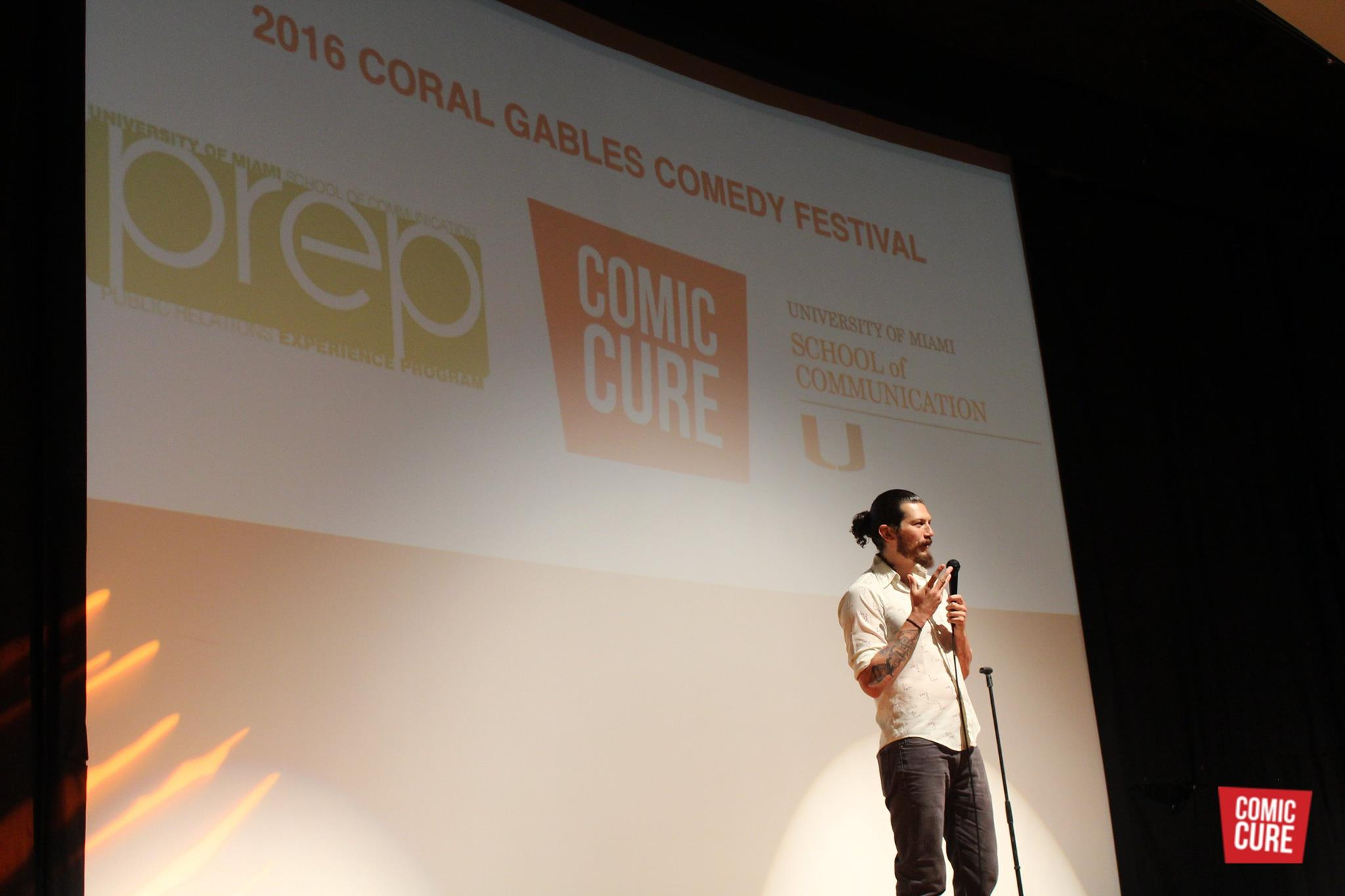 Danny Benavente Performing in the Coral Gables Comedy Festival at the University of Miami