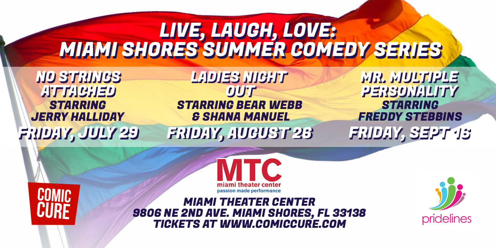 LIVE, LAUGH, LOVE: Miami Shores Summer Comedy Series